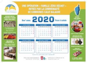 Calendrier 2020 verso