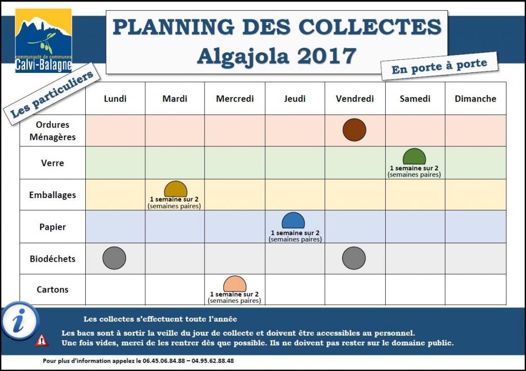 Planning particuliers Algajola
