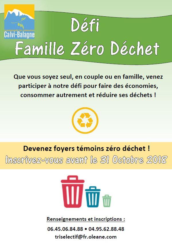 affiche famille zéro déchets